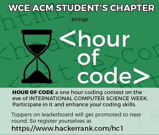 WCE ACM HOUR OF CODE