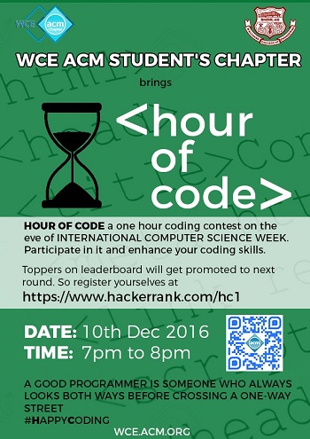WCE ACM Hour of Code Poster
